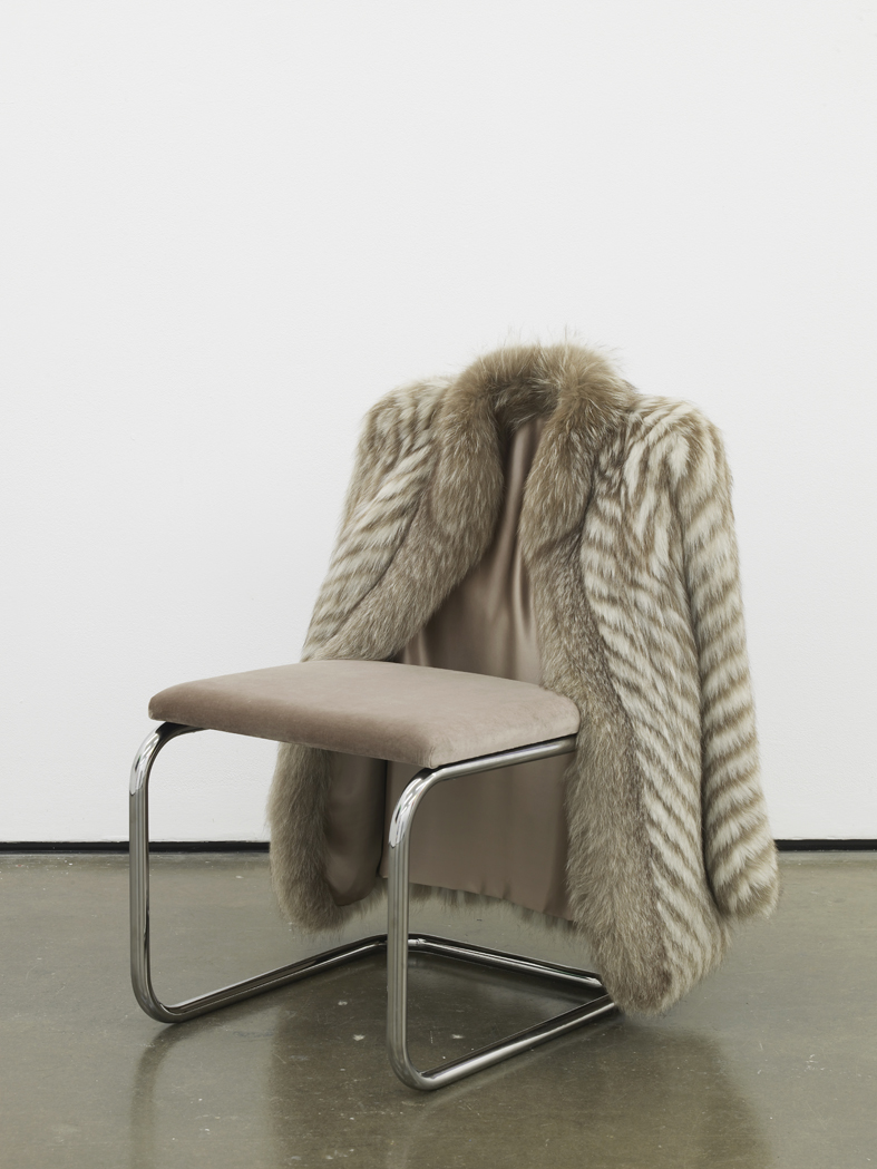 Untitled Chair - FXBW-0  2015  Vintage fur, steel tubing, upholstery, silk and velvet  85 x 65 x 60 cm / 33.4 x 25.5 x 23.6 in