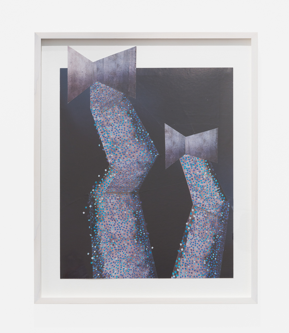 Untitled (bows)  2015  Collaged magazine pages  39.7 x 30.5 cm / 15.6 x 12 (unframed)  49.8 x 38.6 cm / 19.6 x 15.1 (framed)
