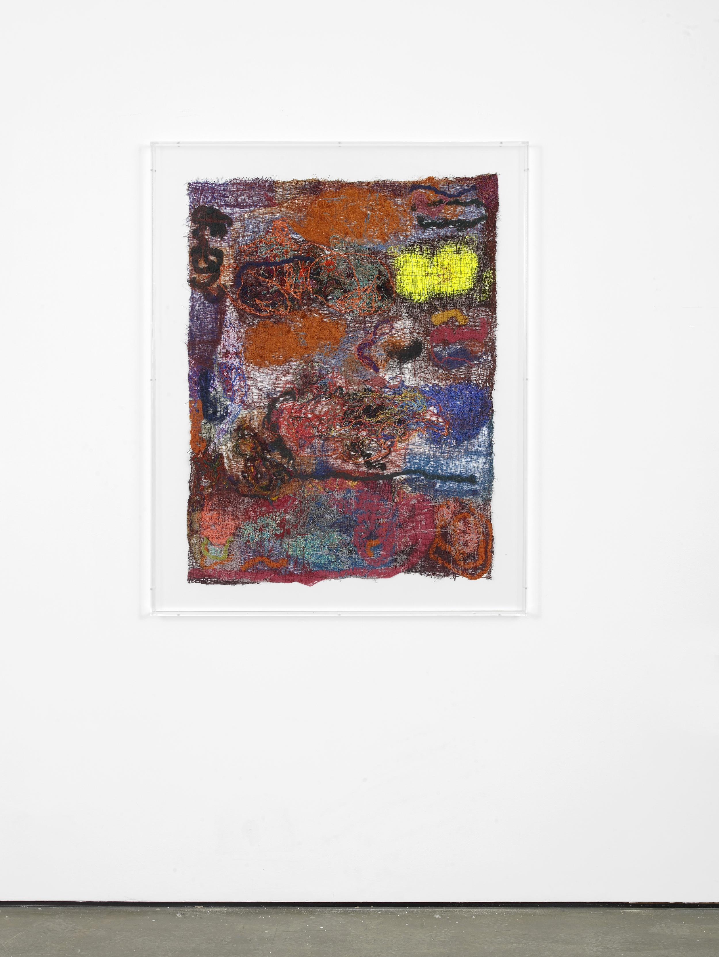 Sediment I 2015 Polyester, silk, cotton, wool, polyurethane 111 x 83 cm / 43.7 x 32.6 in 128.2 x 101.2 x 7 cm / 50.4 x 39.8 x 2.7 in (framed)