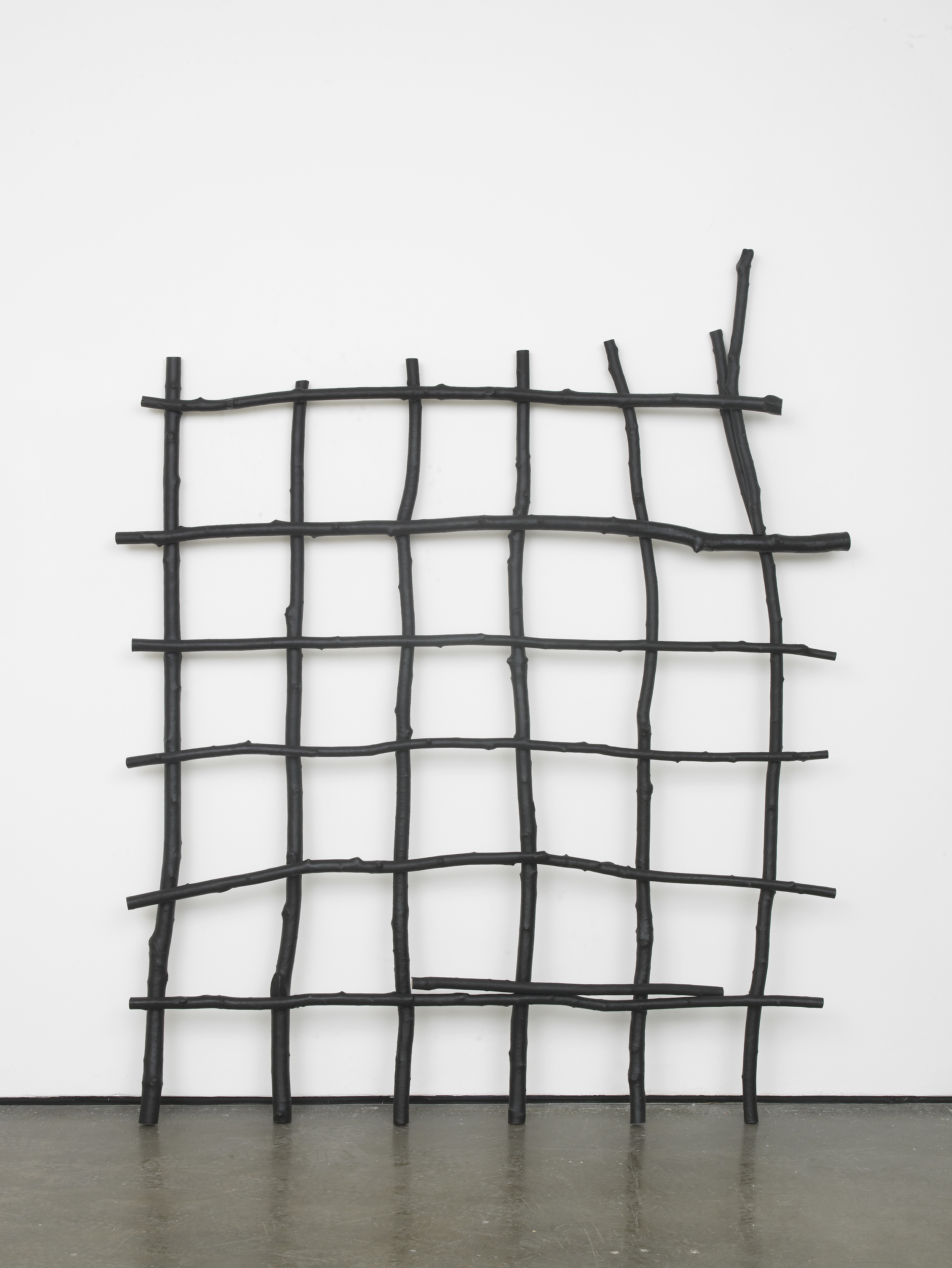 Kunststöcke 2016 PE, wood, metal 195 x 165 x 12 cm / 76.7 x 64.9 x 4.7 in