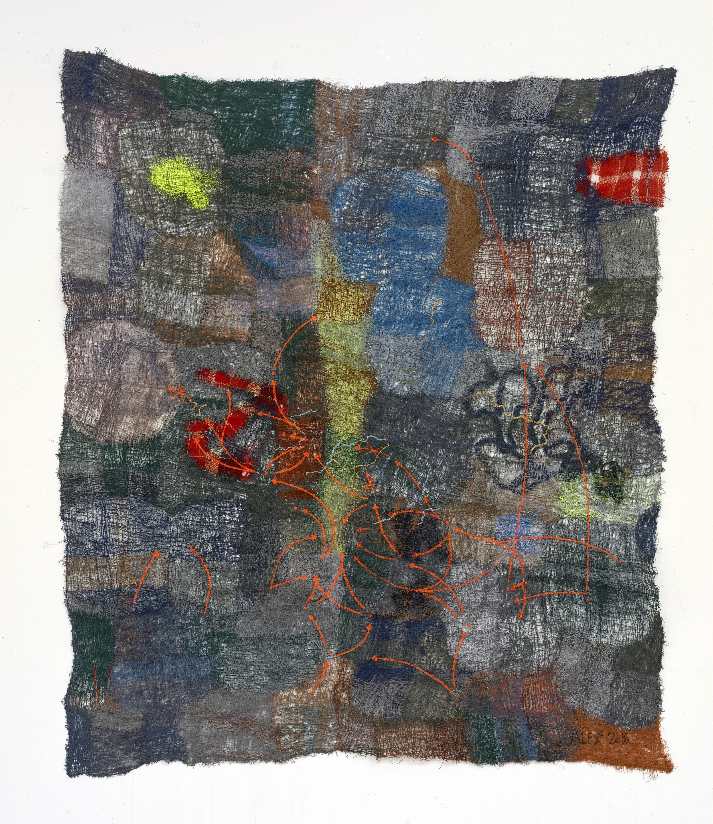 Traffic 2016 Polyester, wool, viscose 146 x 123 cm / 57.4 x 48.4 in