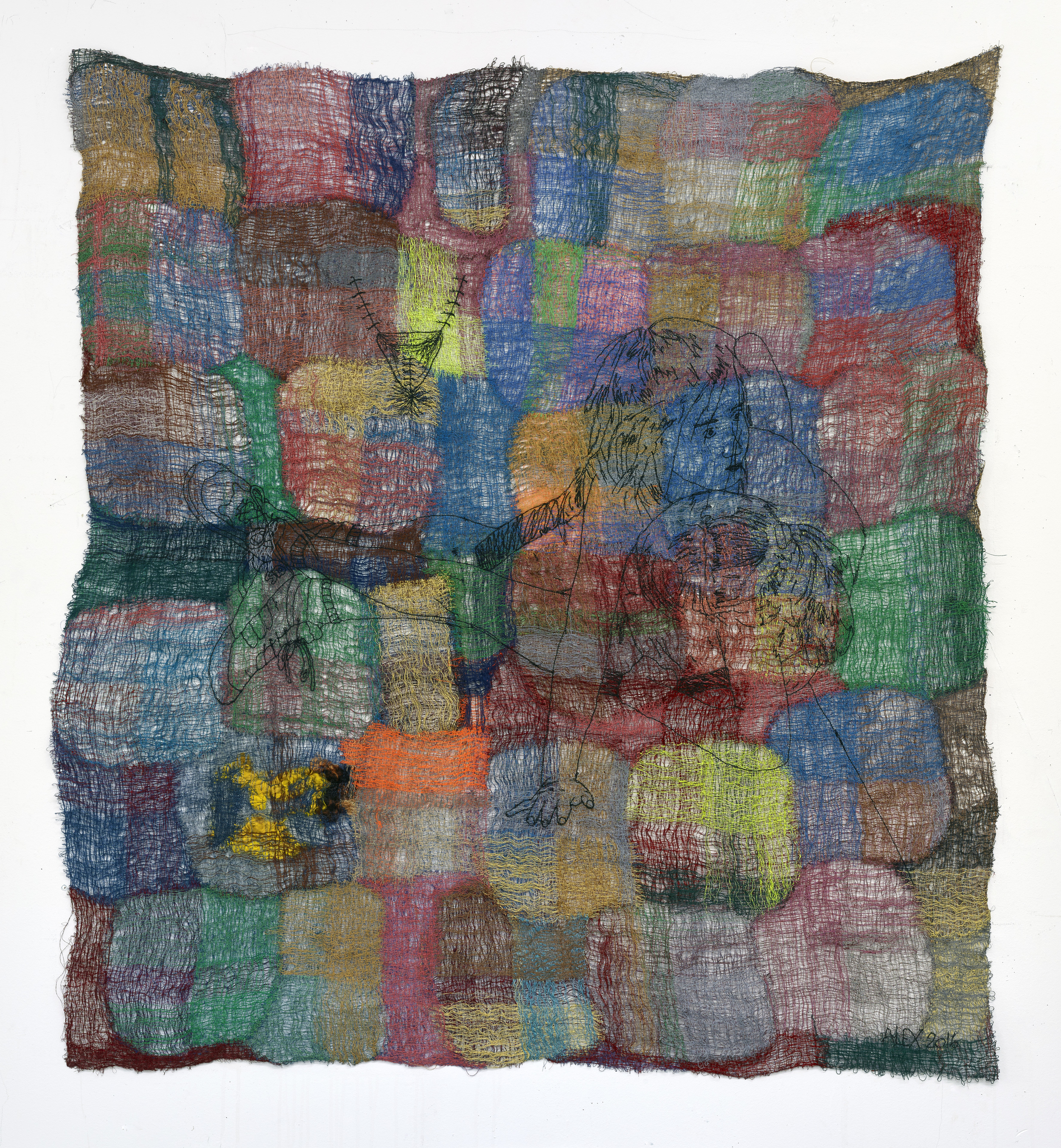 Rupture 2016 Polyester, wool, viscose 140 x 128 cm / 55.1 x 50.3 in