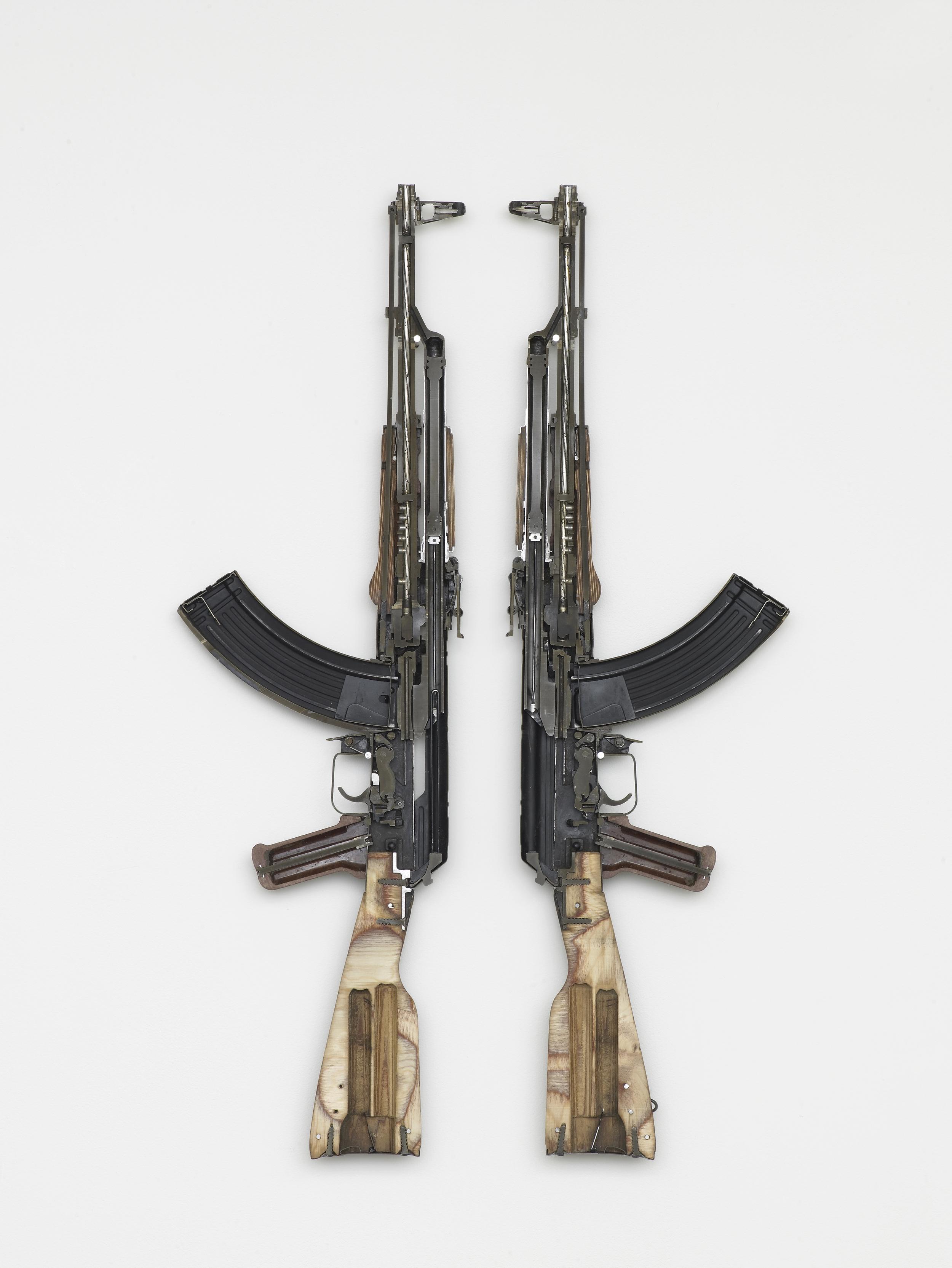 AK 47 2016 Weapon 88 x 52 x 4 cm / 34.6 x 20.4 x 1.5 in