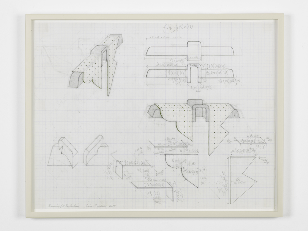Drawing for Two Collars 2008 Graphite on vellum graph paper 57.8 x 45.2 cm / 22.7 x 17.7 in