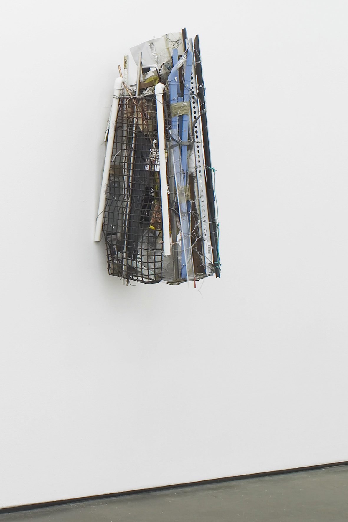 Robert Bittenbender Nocturnal Digest 2015 Wood, steel, photographs, aluminium, plastic, acrylic glass, jewelry, rubber, rope, paper, clothespins, zipties, metal wires, chains, assorted tubes, bottles 97 x 29 x 42 cm / 38.2 x 11.4 x 16.5 in HS12-RB5457S