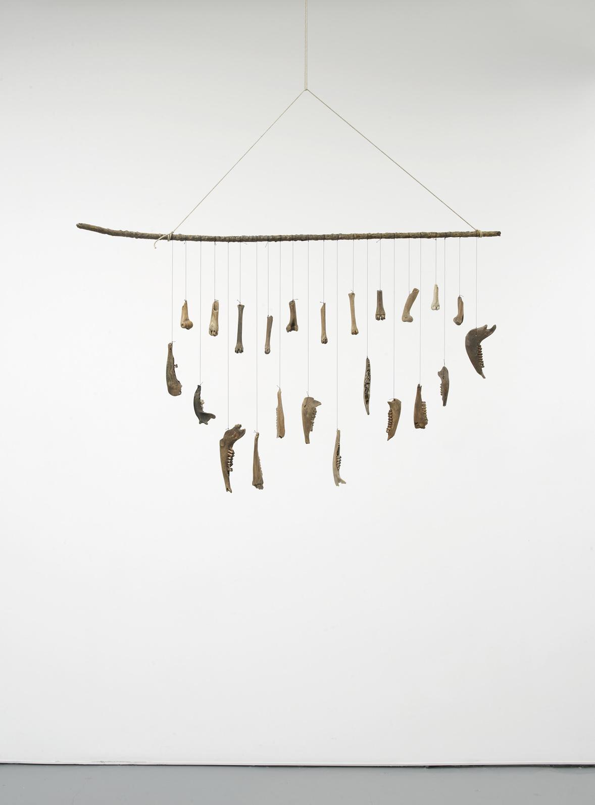 Franziska Lantz THAMES, no title 2016 Metal, bones, rope, string 69 x 113 x 8 cm / 27.1 x 44.4 x 3.1 in HS12-FL5509S
