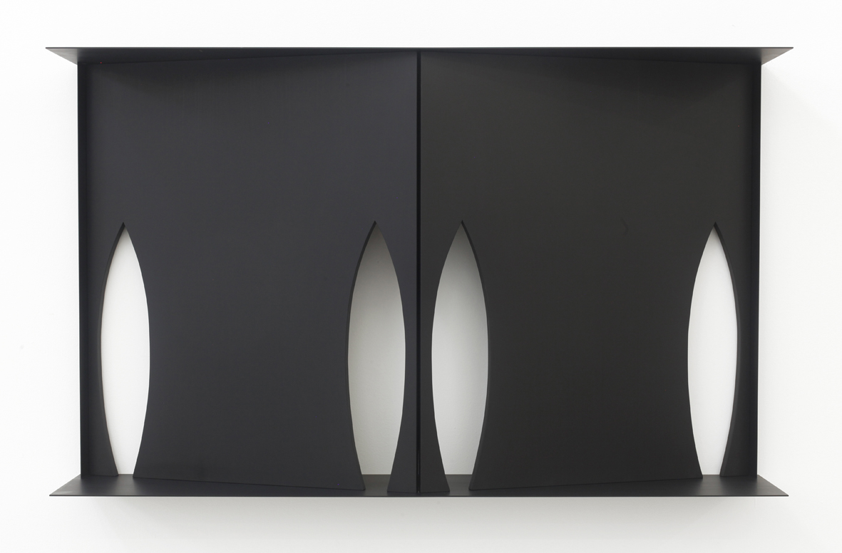 Wall Cabinet (Shadow) 2016 Birch plywood, euro-beech hardwood, aluminum, aluminum rivets, acrylic 91.4 x 152.4 x 25.4 m / 36 x 60 x 10 in