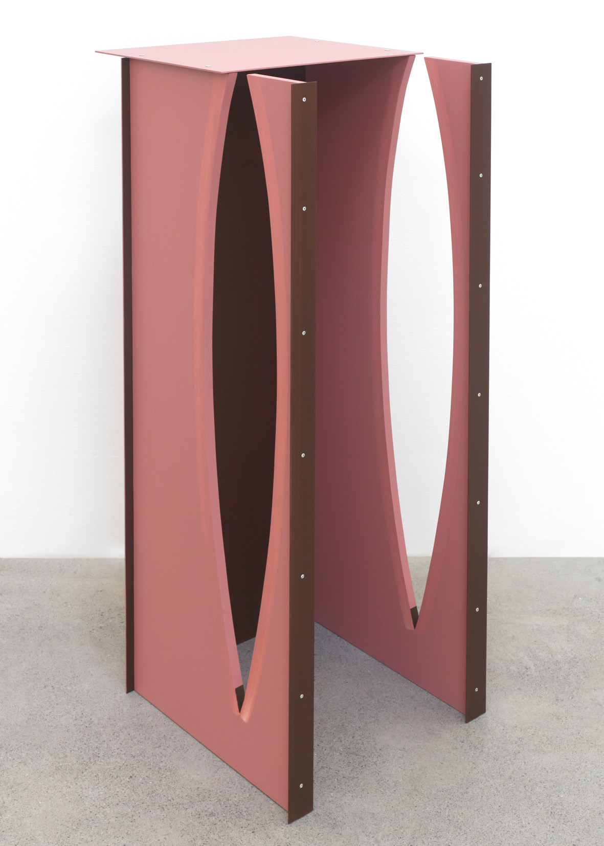 High Back (No Seat) 2016 Birch plywood, euro-beech hardwood, aluminum, aluminum rivets, acrylic 119.3 x 45.7 x 50.8 cm / 47 x 18 x 20 in