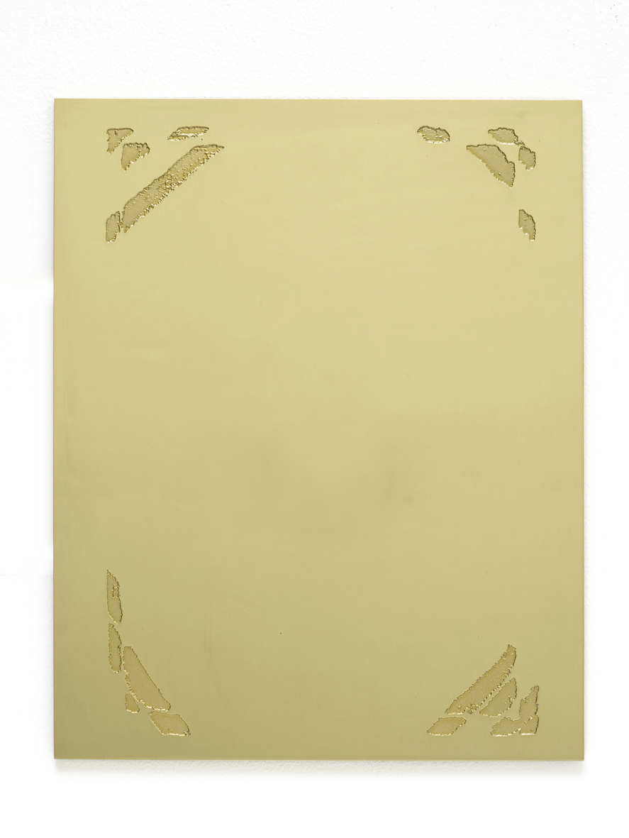 Untitled 2016 Etched brass 20.3 x 25.4 x 0.6 cm / 8 x 10 x 0.2 iN