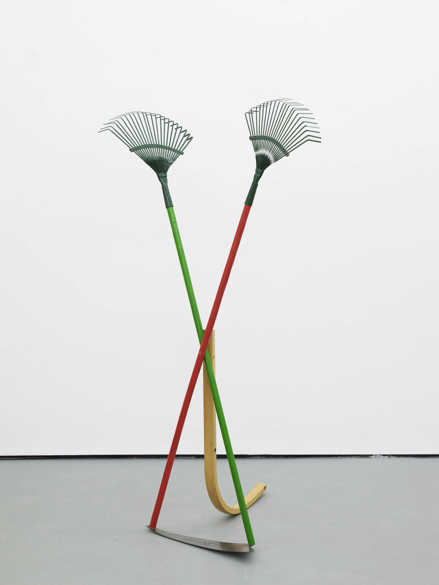 Catachresis ♯62  Teeth of the rakes, arm of the chair, teeth of the saw and eye of the needle 2016 Found materials 143 x 77 x 65 cm / 56.3 x 30.3 x 25.6 in