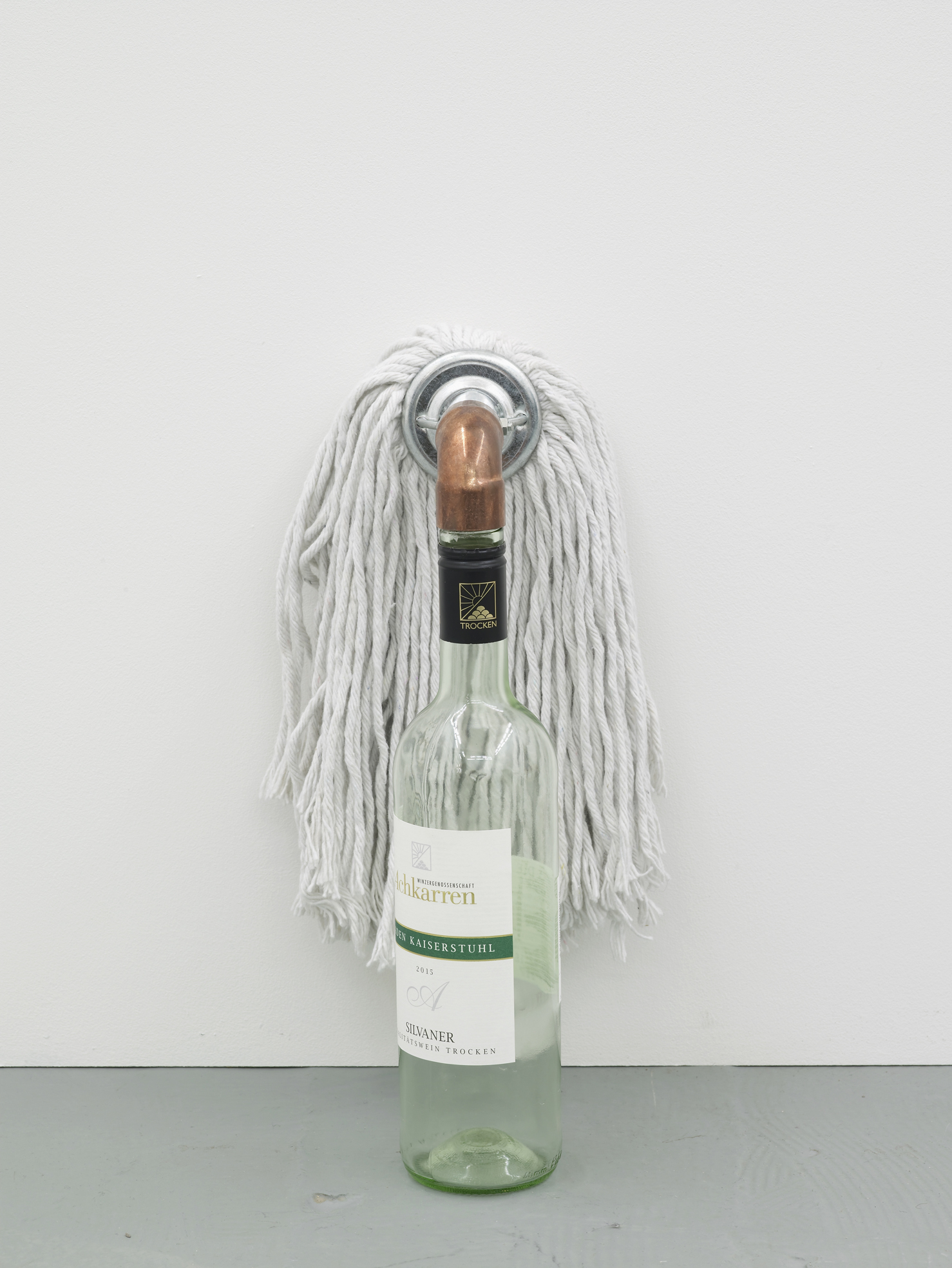 Catachresis ♯84 Head of the mop, elbow of the pipe and neck of the bottle 2016 Found materials 40 x 19 x 17 cm / 15.7 x 7.5 x 6.7 in