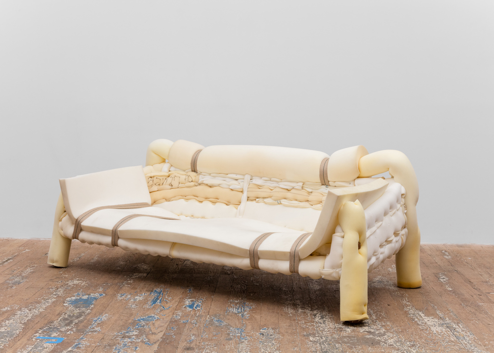 Foam Couch with Straps 2016 Upholstery foam, fiberglass, wood, webbing 29 x 77 x 35 inches (73.66 x 195.58 x 88.90 cm)