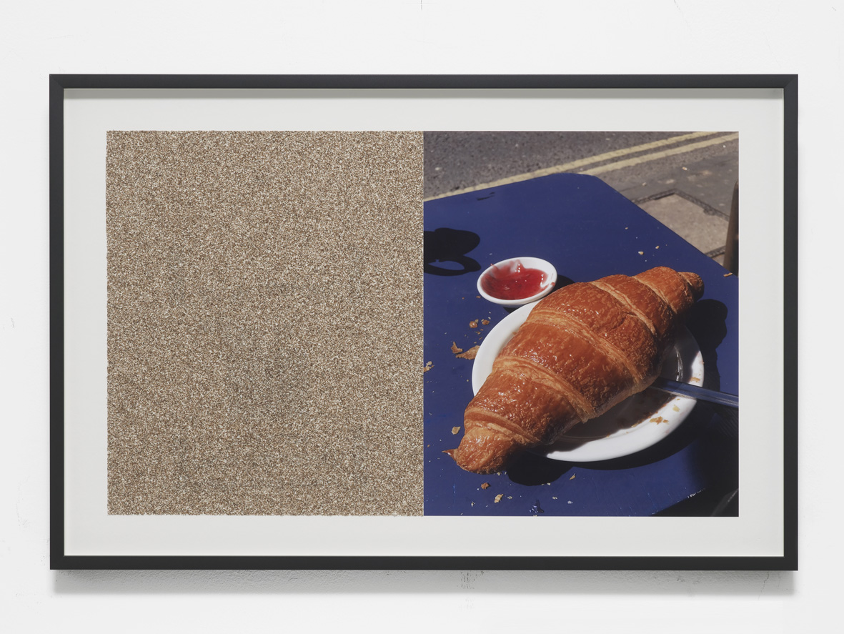 Croissants & Architecture #40 2017 C-print and sandpaper sheet 37.8 x 54.6 cm framed