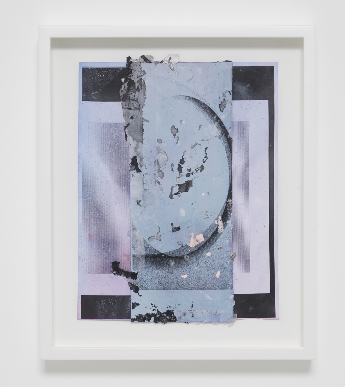 Josh Brand  Untitled  2018  Mixed media and dyed photocopies  35.5 x 29 x 4.4 cm / 13.9 x 11.4 x 1.7 in framed