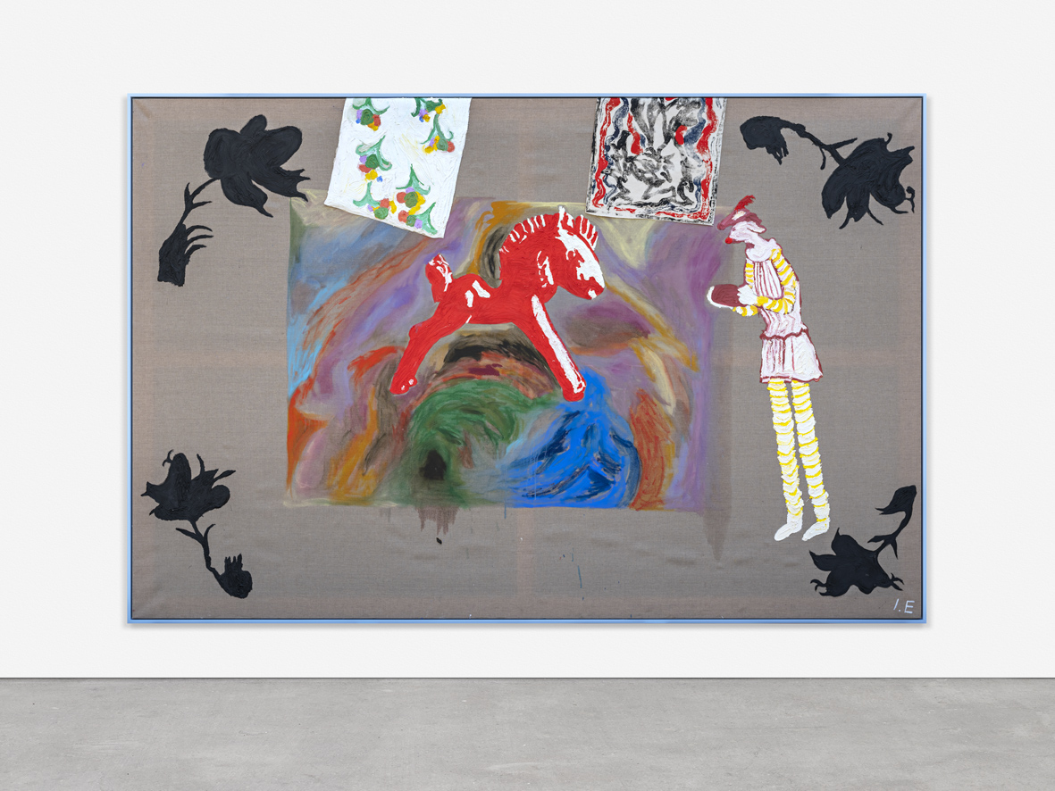 THE CHILD THING  2018  Puff, plastisol and ink on linen  200 x 300 cm / 78.7 x 118.1 in