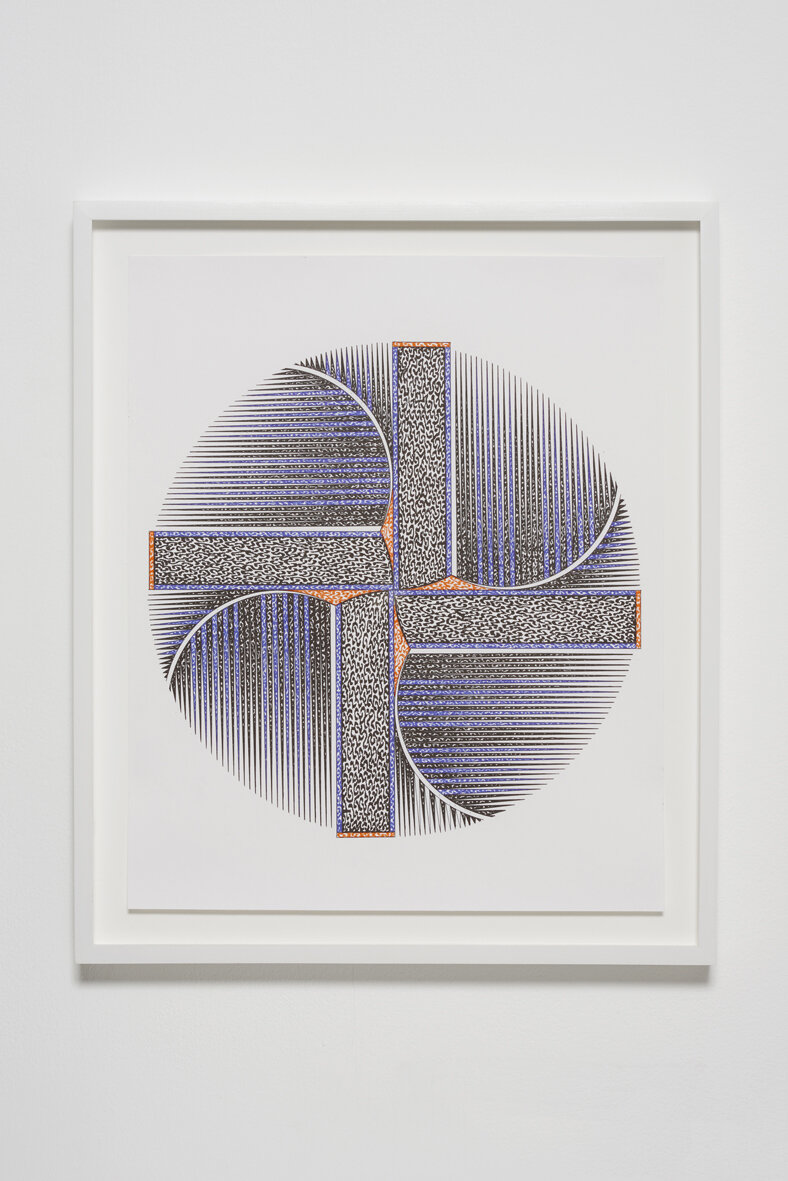 Sanou Oumar  10/17/17  2017  Pen on paper  50 x 42.4 x 3.8 cm / 19.7 x 16.7 x 1.5 in, framed