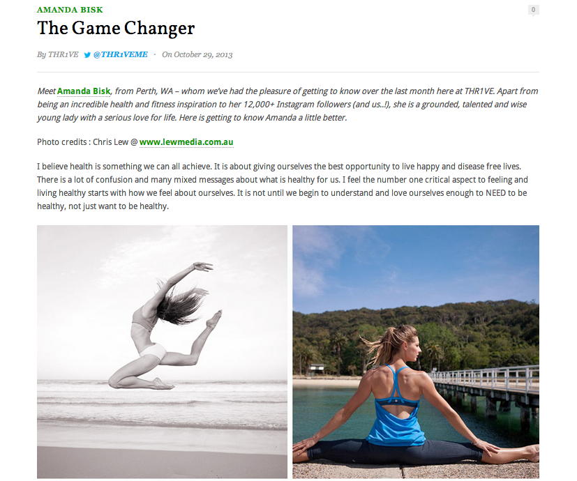 Read the full article @  http://www.nutritiontothr1ve.com/2013/10/29/the-game-changer/