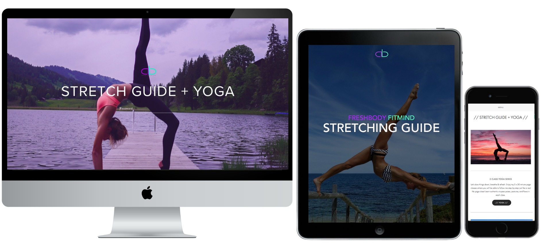 STRETCH GUIDE + 5 CLASS YOGA SERIES    All my secrets to stress less, re-energise and feel refreshing flexible.
