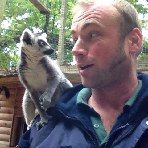 Me and a baby Lemur (unfortunately not one of the Mini Monsters!)
