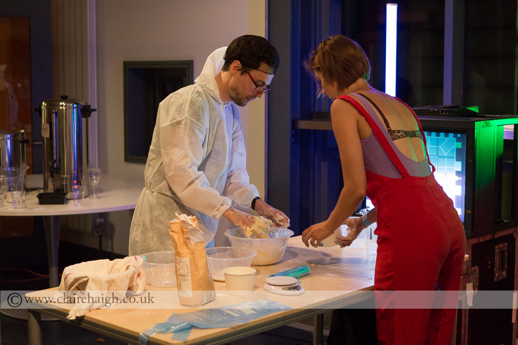Amy Teaching Bread Making at Nightwatch