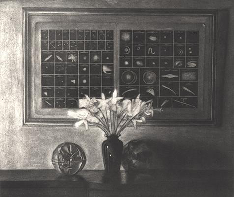 Daffodils with Astronomical Chart