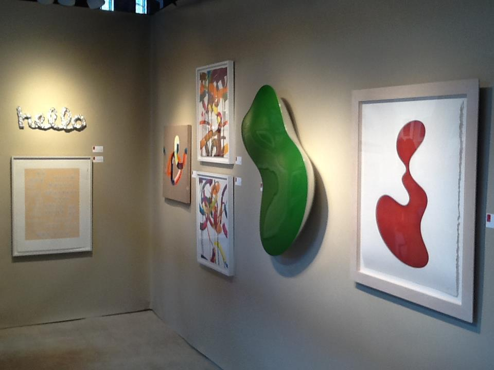 An Installation shot of Center Street Studio's Booth during the AD 20/21 (Art and Design in the 20th and 21st Centuries) in March of 2013.