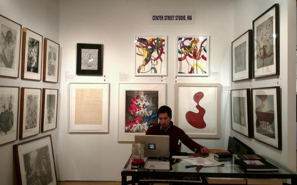 Ryder Stroud mans the booth during the 2013 E/AB fair in New York City.