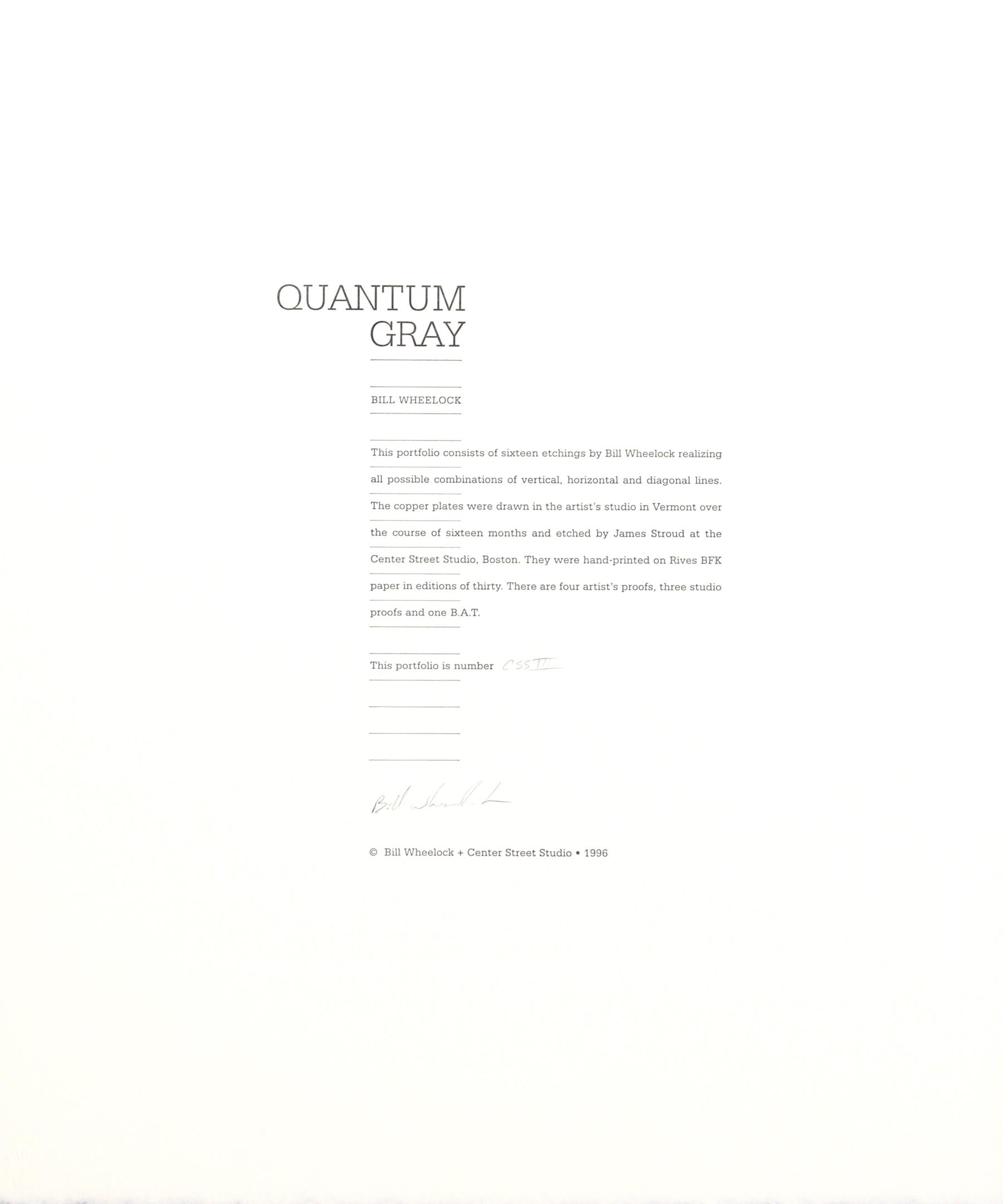 Quantum Gray, Colophon