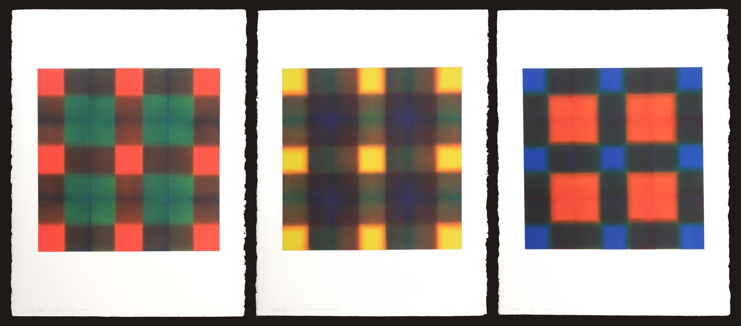 Nine Series (Red Nine, Nine Yellow, Nine Blue)