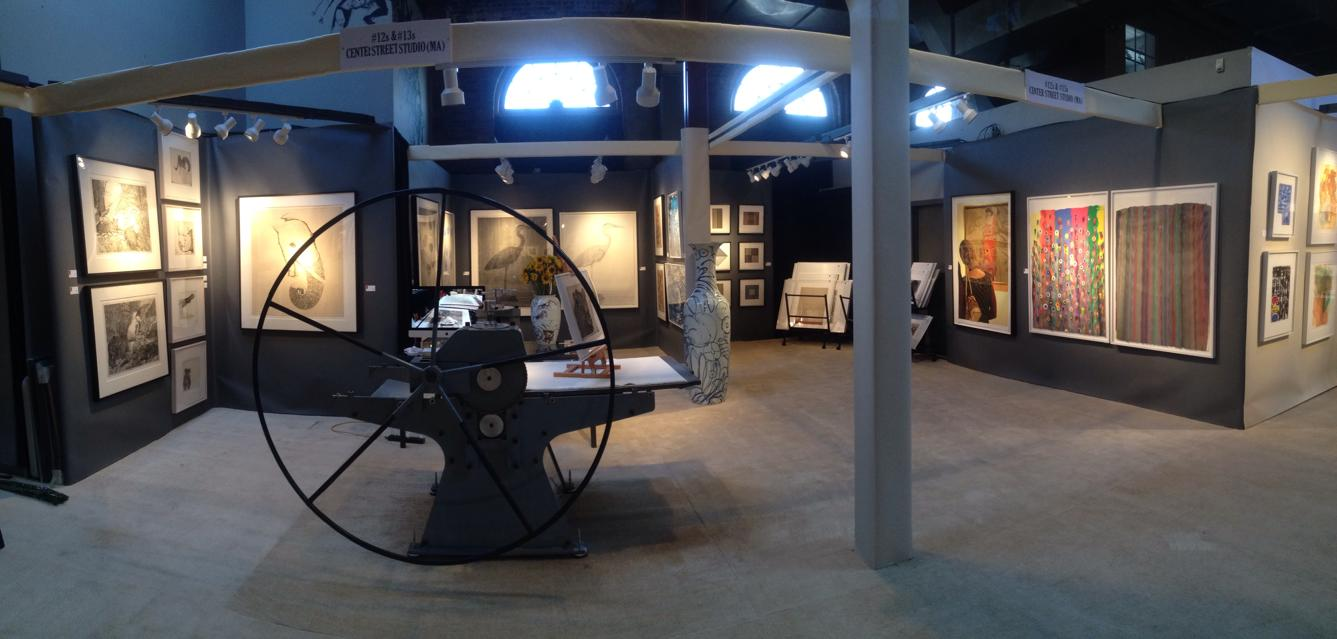 A panoramic shot of the CSS booth at the AD 20/21 show (2014).