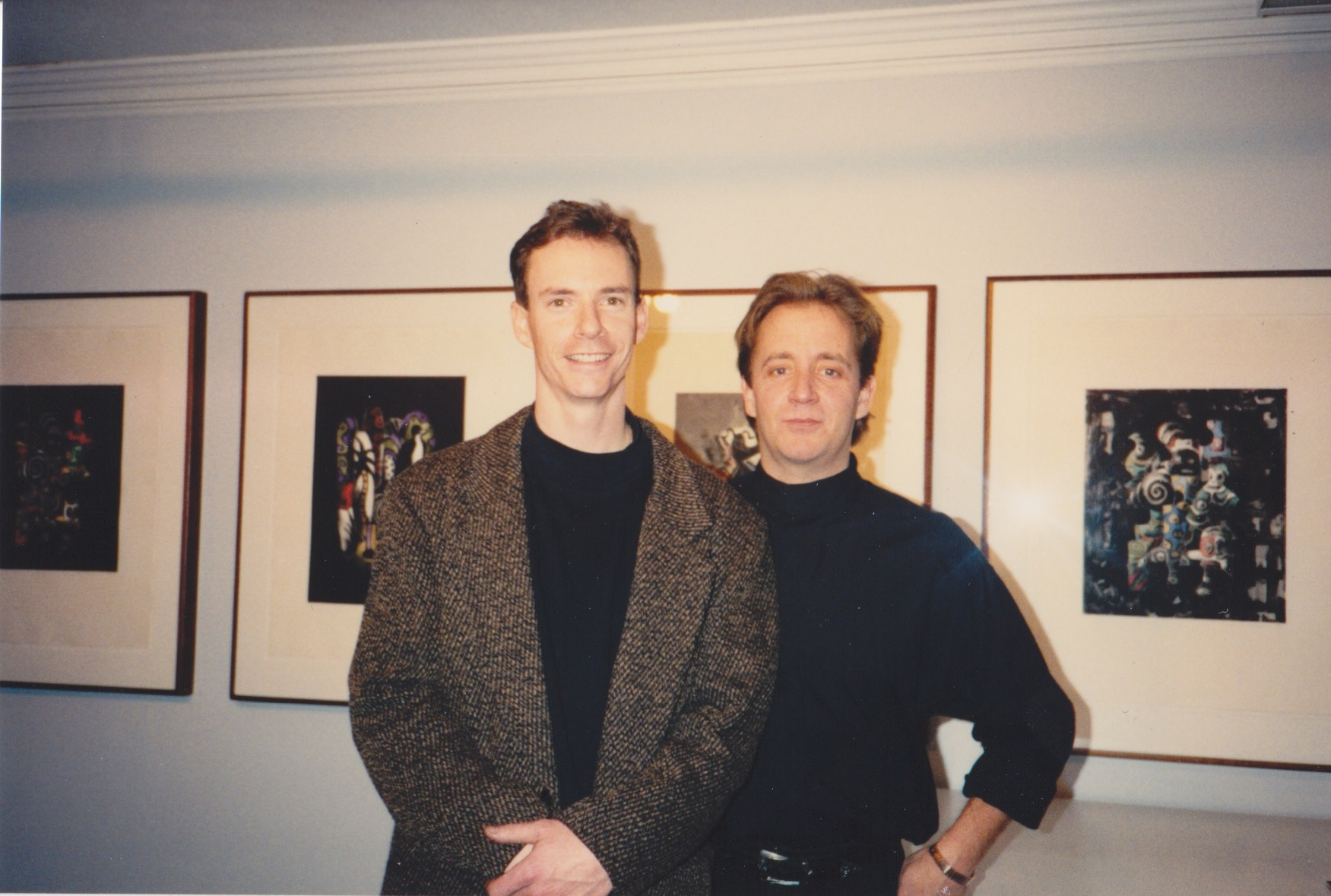 James Stroud and the late James Hansen at Hansen's exhibition at the Distillery Building circa 1994.