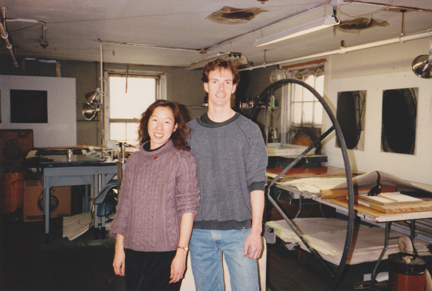 Janine Wong and James Stroud in the Distillery Building circa 1993.