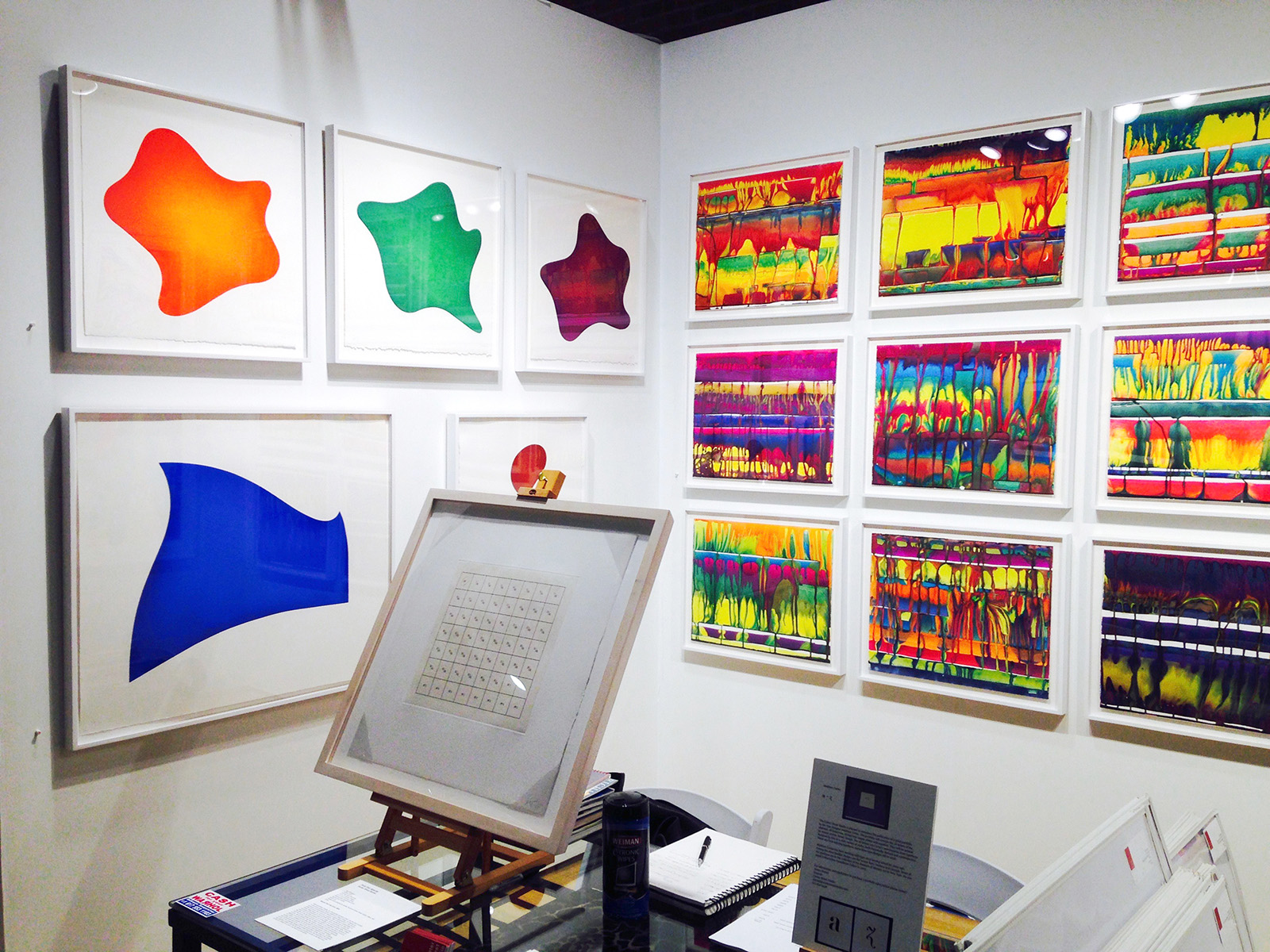 """The """"bright colors corner"""" during the E/AB 2015 Fair in New York City"""