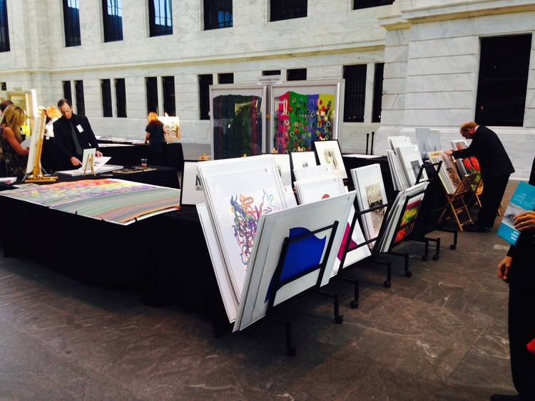 CSS booth's first day at the 2015 Cleveland Print Fair, hosted by the Print Club of Cleveland