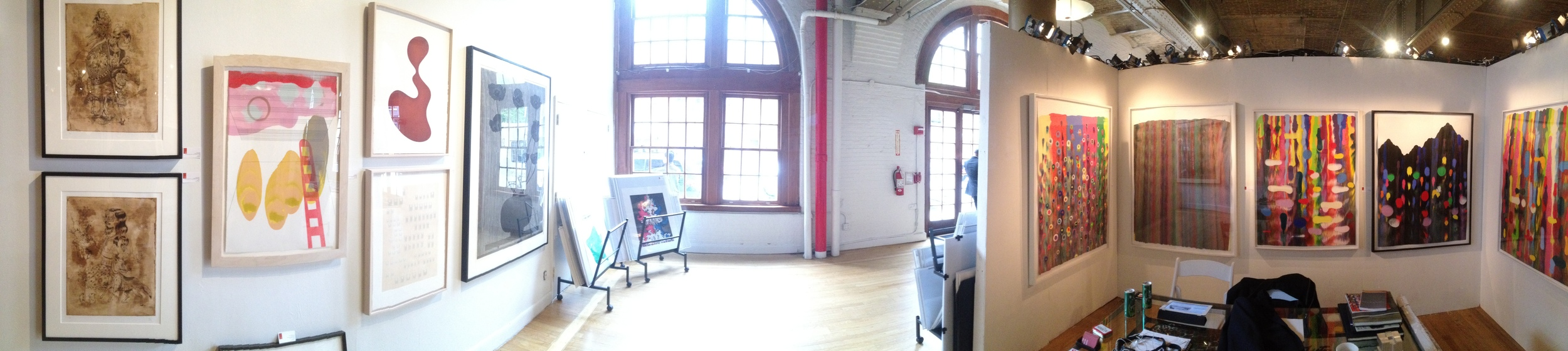A panoramic photo of the CSS booth