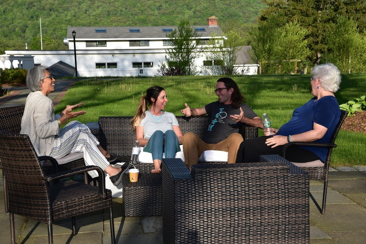 Hanging out at Teacher Training, Lenox, MA, USA 2018
