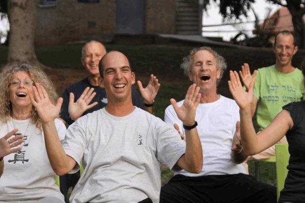Students in Israel practice Sheng Zhen Healing Stage 2