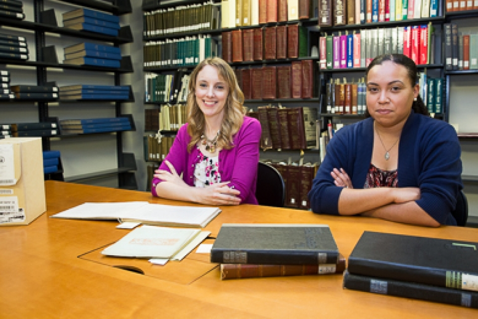 Eden Orelove and Tasha Dorsey were two of four students selected for the inaugural cohort of University Archives Diversity Research Fellows