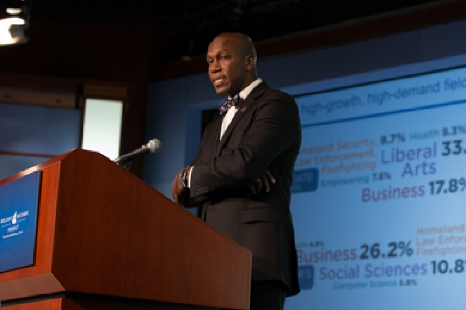 Veterans who complete postsecondary education options through the GI Bill often continue their education, Student Veterans of America President and CEO D. Wayne Robinson said.