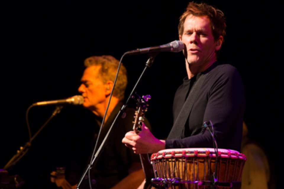 The Bacon Brothers, featuring actor Kevin Bacon, perform in support of veterans at Lisner Auditorium.