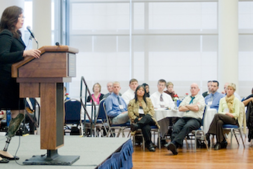 Conference examines range of issues concerning veterans' integration in higher education.