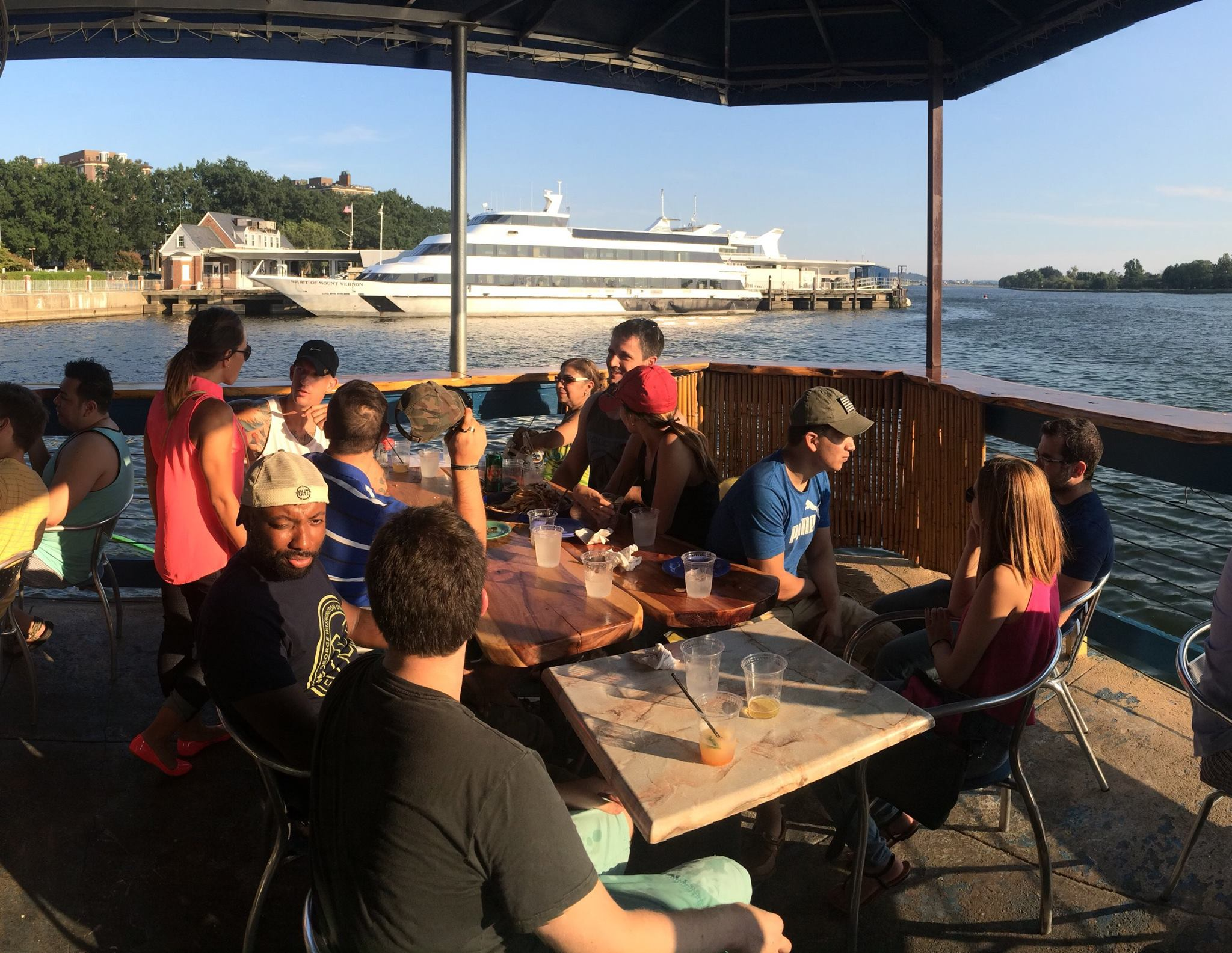 GW Veteans enjoying a social networking event in the summer of 2015