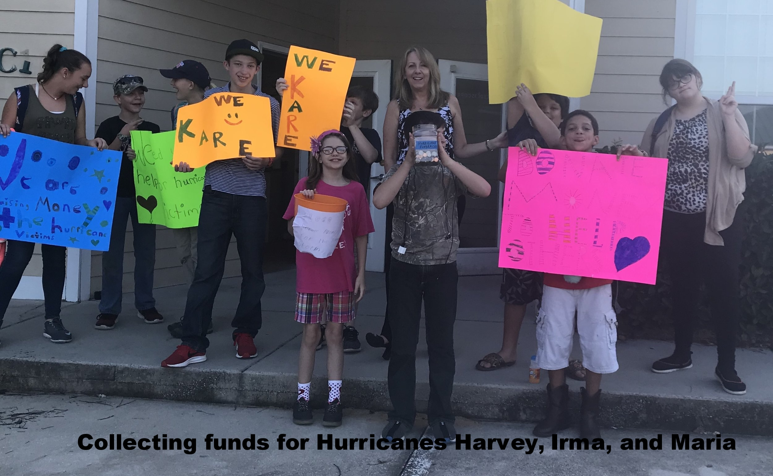 Collecting funds for those affected by Hurricanes Harvey, Irma, and Maria