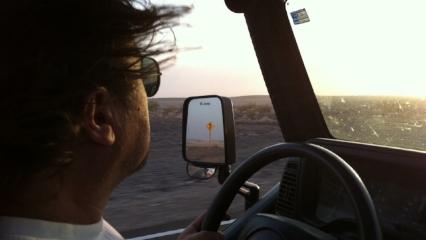 Michael in Jeep Rear View Mirror 2.JPG