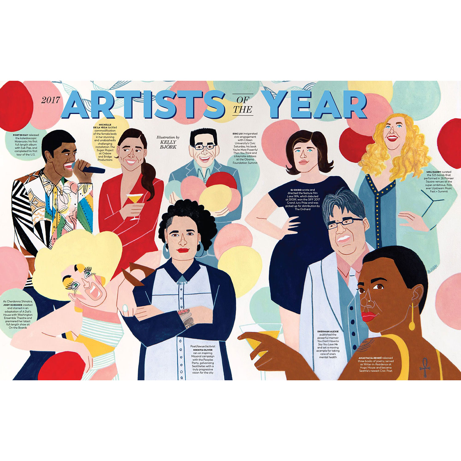City Arts Magazine Feature: Artists of the Year December 2017