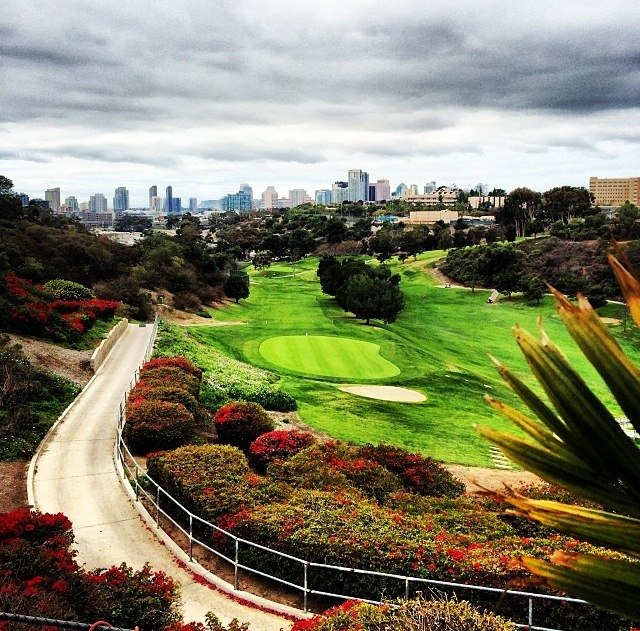 Skyline views from the 19th hole in Balboa Park.