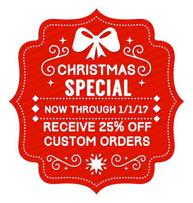 """Just place the order and we apply the discount! If you have a event later in the year, email us and we will give you a code to use for a future purchase! Click on the """"Custom Bow Tie Order form"""" and submit!     Even Santa knows everything is tied by the knot!"""