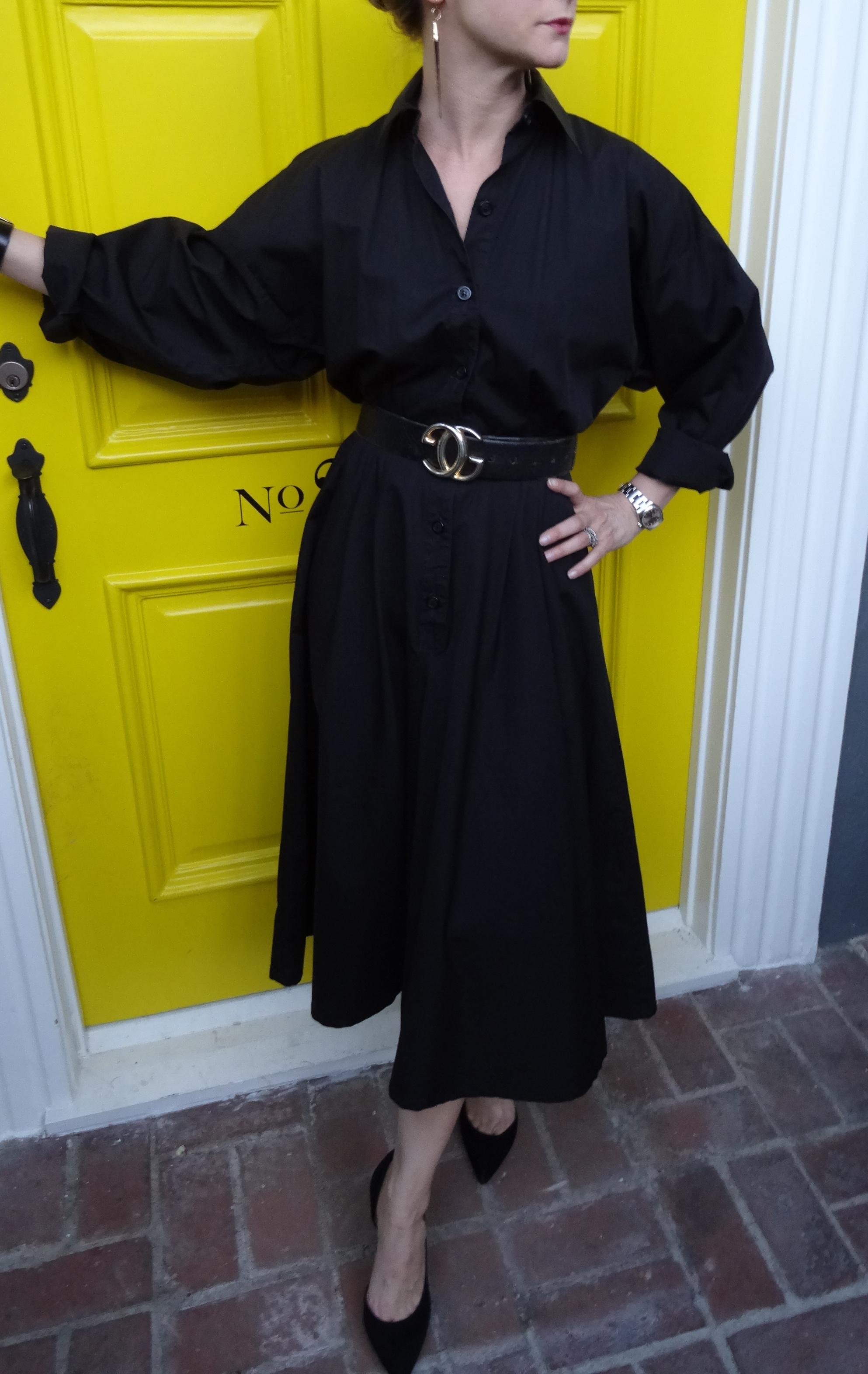 Gucci Belt with Vintage Norma Kamali Dress