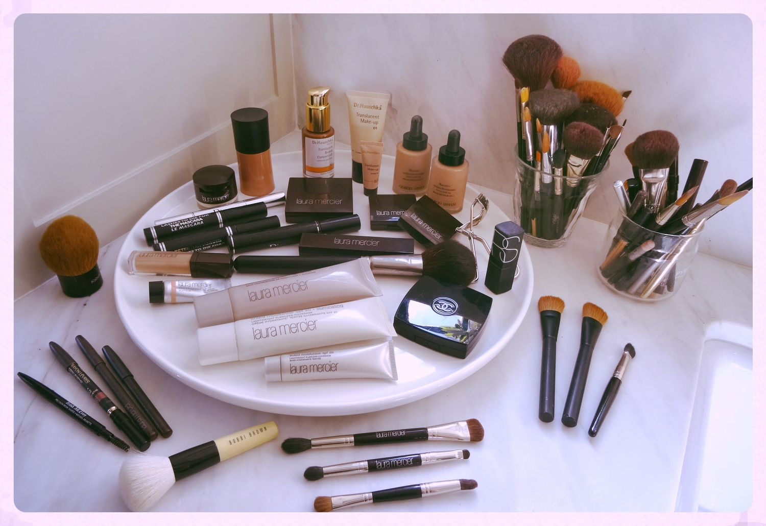 A collection of my mom's makeup