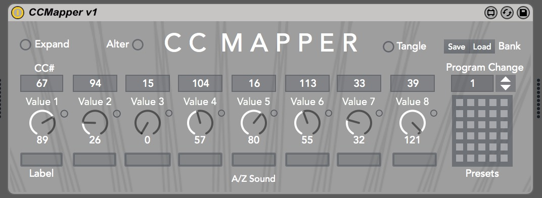 CC Mapper - Main Interface